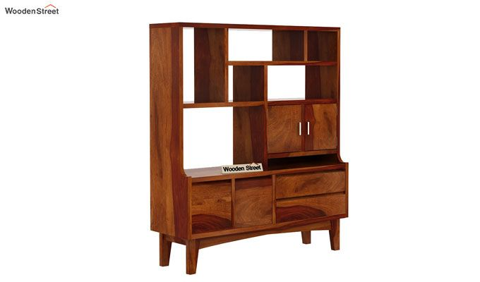 Elstre Bookshelf (Honey Finish)-4