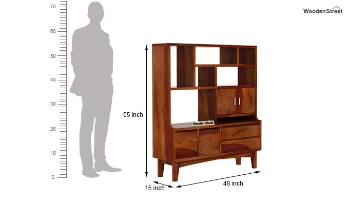 Elstre Bookshelf (Honey Finish)-7