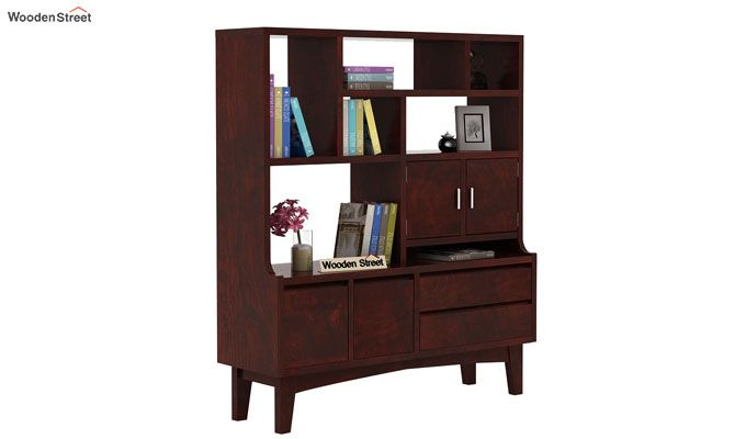 Elstre Bookshelf (Mahogany Finish)-1