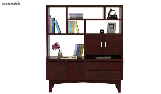 Elstre Bookshelf (Mahogany Finish)-2