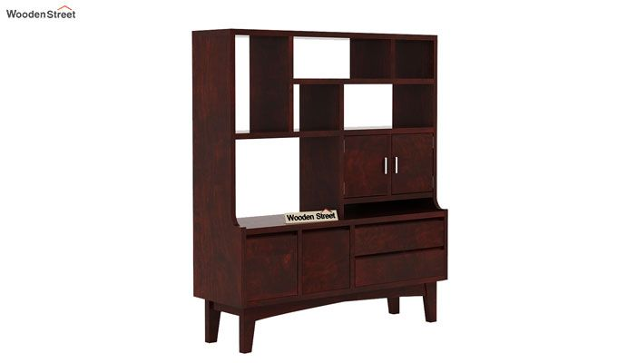 Elstre Bookshelf (Mahogany Finish)-3