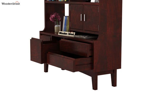 Elstre Bookshelf (Mahogany Finish)-5