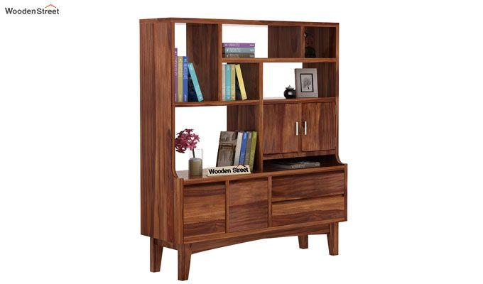 Elstre Bookshelf (Teak Finish)-1