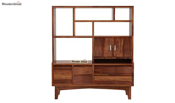 Elstre Bookshelf (Teak Finish)-4