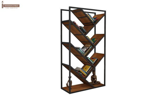 Eve Loft BookShelf (Teak Finish)-2