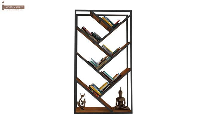 Eve Loft BookShelf (Teak Finish)-3