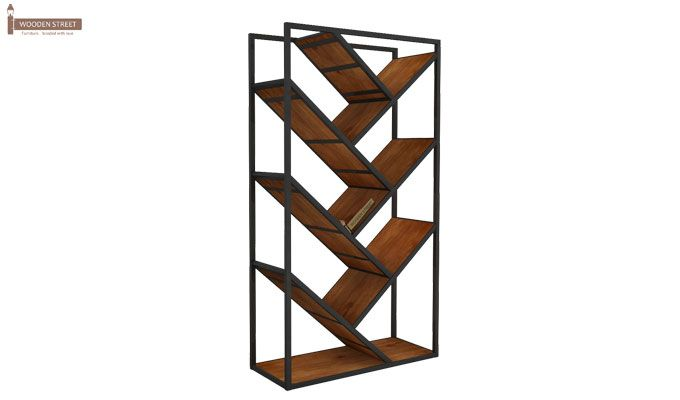 Eve Loft BookShelf (Teak Finish)-4