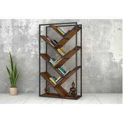 Eve Loft BookShelf (Teak Finish)
