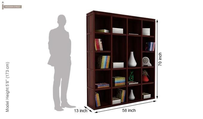 Fanny Bookshelf (Mahogany Finish)-5