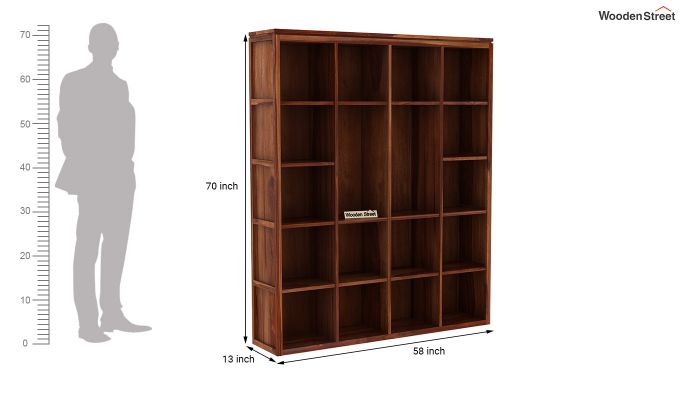 Fanny Bookshelf (Teak Finish)-5
