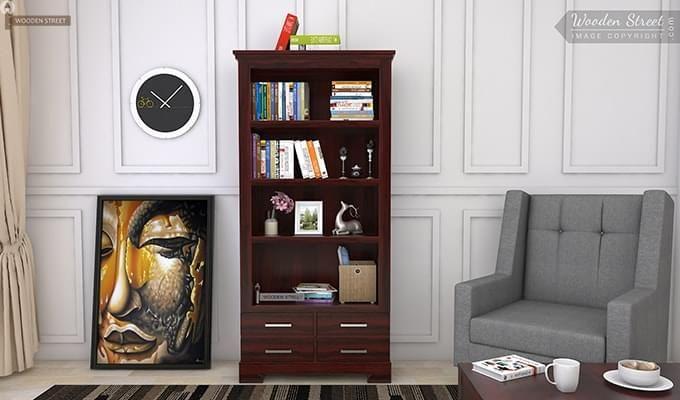 Fischl Bookshelf (Mahogany Finish)-1