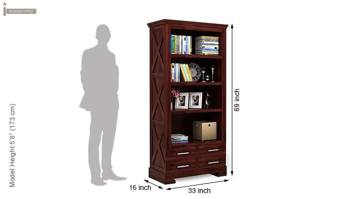 Fischl Bookshelf (Mahogany Finish)-5