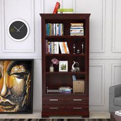 Fischl Bookshelf (Mahogany Finish)