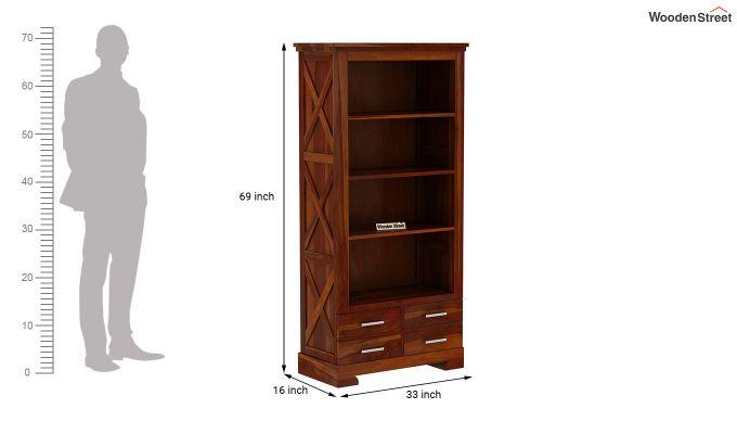 Fischl Bookshelf (Honey Finish)-5