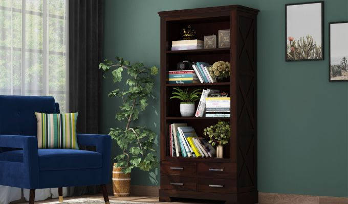 Fischl Bookshelf (Walnut Finish)-1