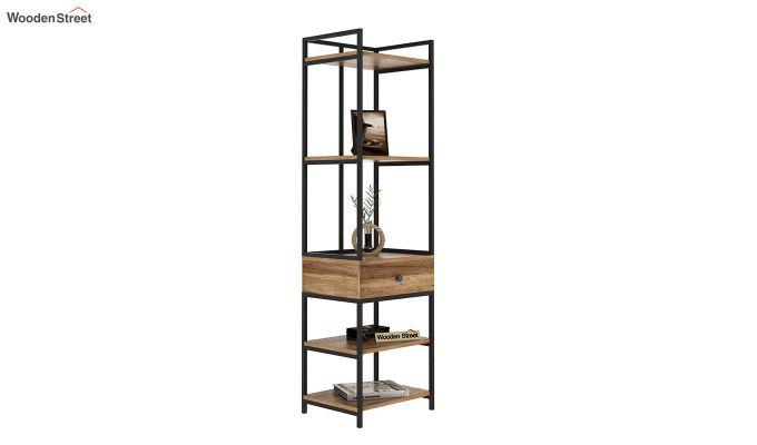 Fortuna Loft BookShelf With Storage Drawer (Natural Finish)-2