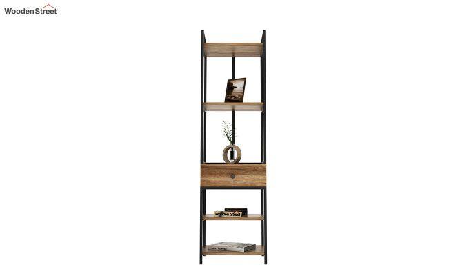 Fortuna Loft BookShelf With Storage Drawer (Natural Finish)-3