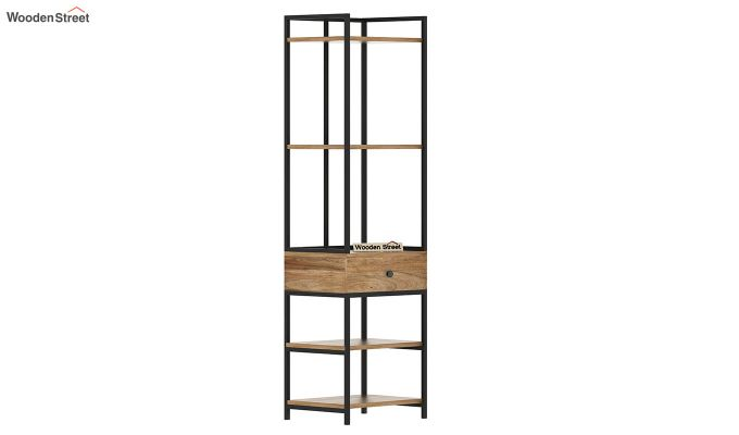 Fortuna Loft BookShelf With Storage Drawer (Natural Finish)-4