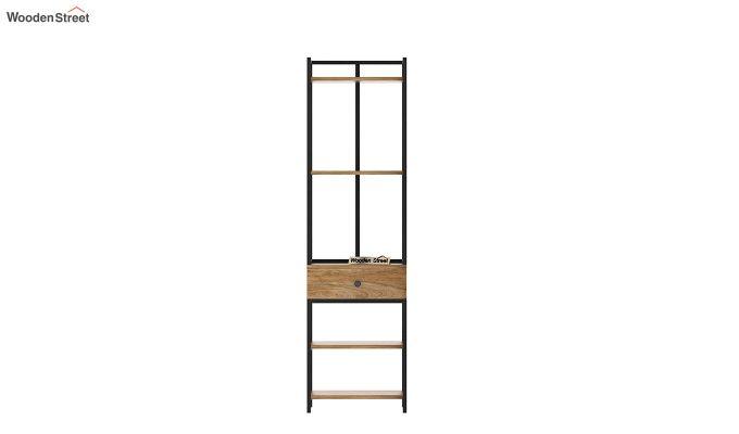 Fortuna Loft BookShelf With Storage Drawer (Natural Finish)-5