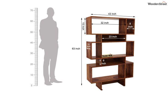 Grace Bookshelf (Teak Finish)-6