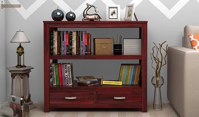 Greta Book Shelf (Mahogany Finish)-1
