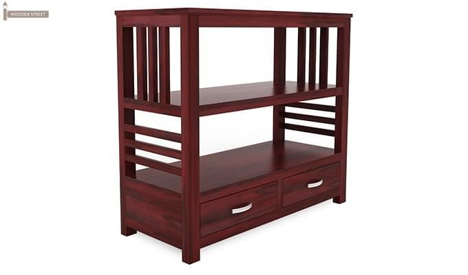 Greta Book Shelf (Mahogany Finish)-5