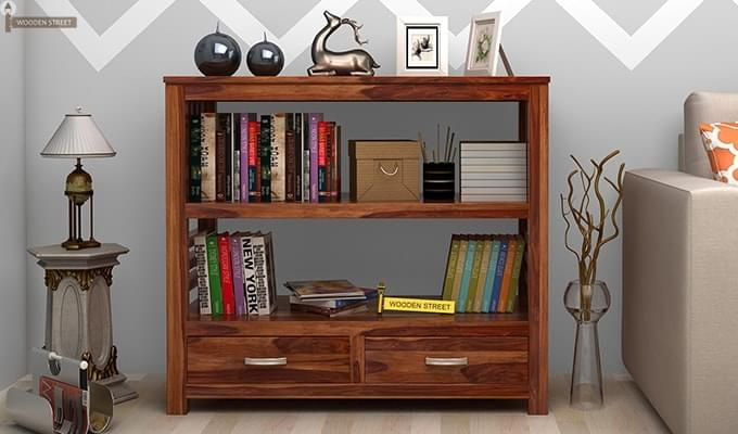 Greta Book Shelf (Teak Finish)-1
