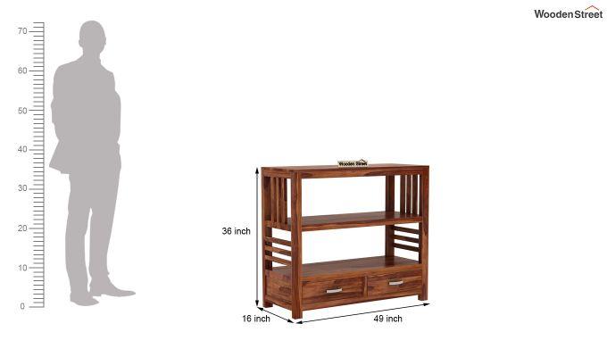 Greta Book Shelf (Teak Finish)-5
