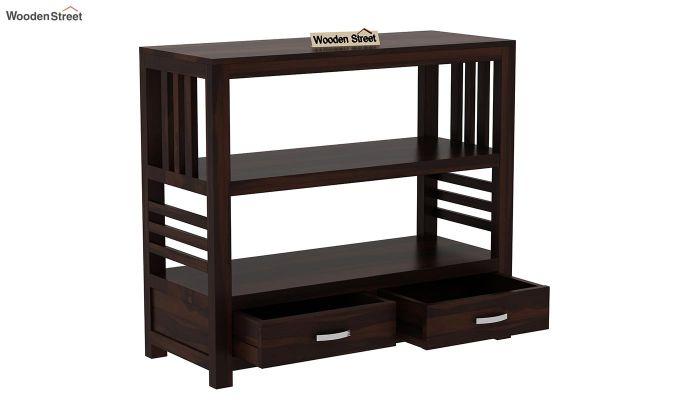 Greta Book Shelf (Walnut Finish)-4