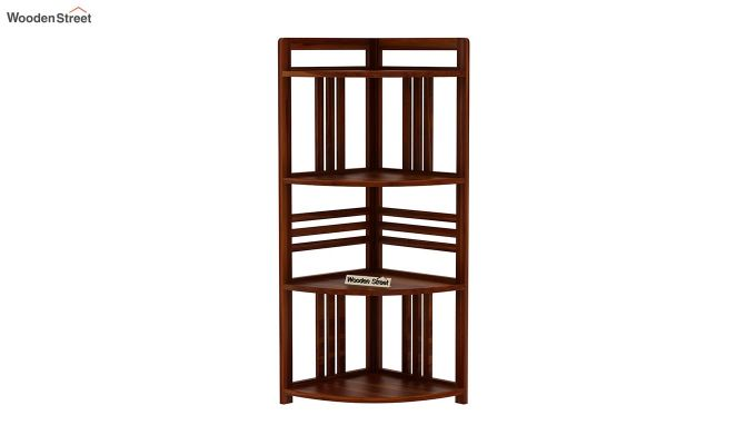 Hamlin Corner Bookshelf (Honey Finish)-3