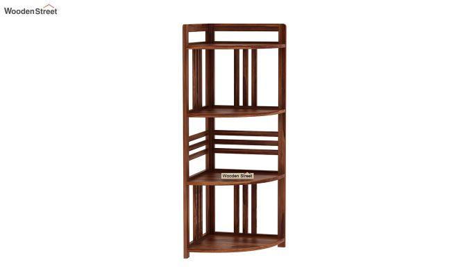 Hamlin Corner Bookshelf (Teak Finish)-2