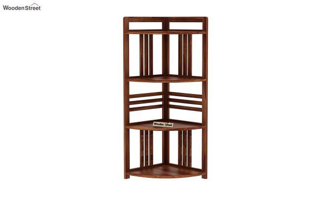 Hamlin Corner Bookshelf (Teak Finish)-3