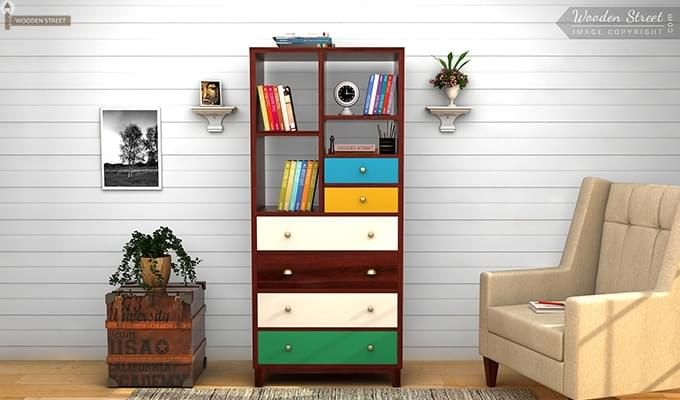 Hammons Bookshelf (Mahogany Finish)-1