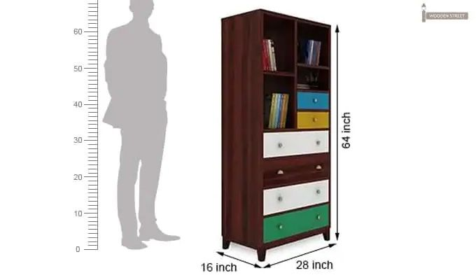 Hammons Bookshelf (Mahogany Finish)-5