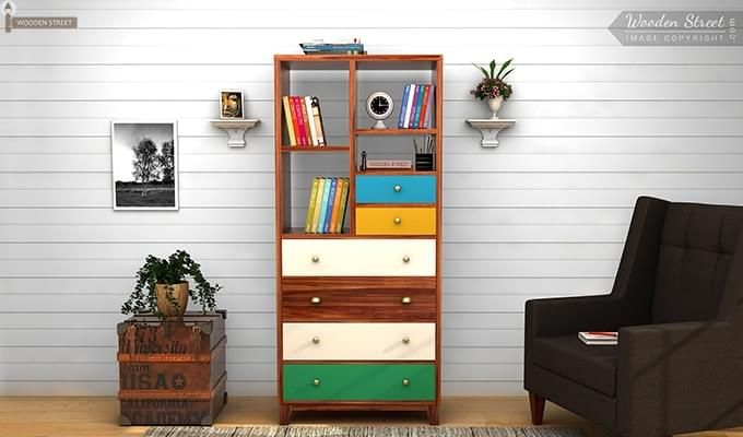Hammons Bookshelf (Teak Finish)-1