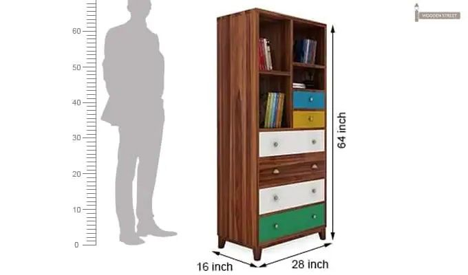Hammons Bookshelf (Teak Finish)-5