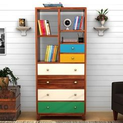 Hammons Bookshelf (Teak Finish)