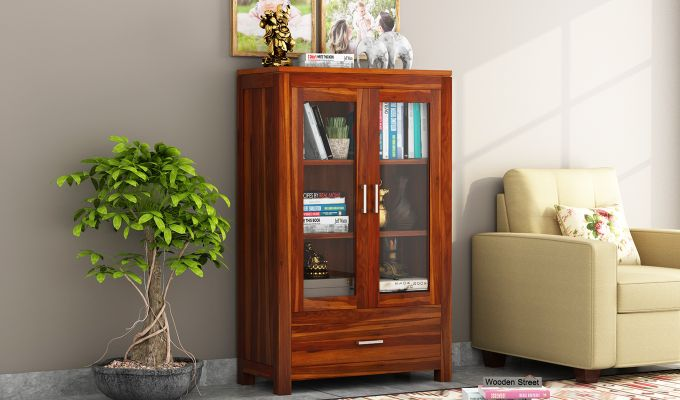 Heimo Bookshelf (Honey Finish)-1