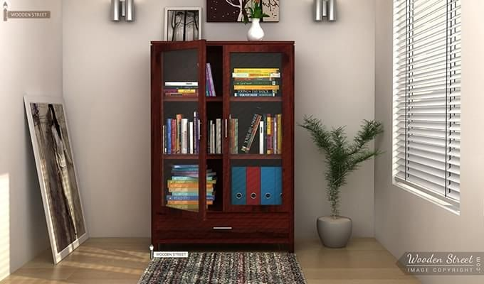 Heimo Bookshelf (Mahogany Finish)-1