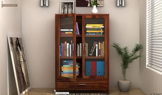 Heimo Bookshelf (Teak Finish)-1