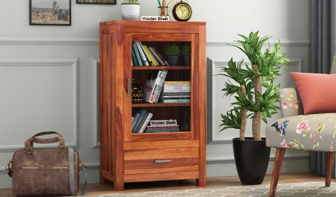 Holo Bookshelf (Honey Finish)-1