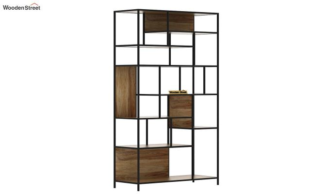 Irina Loft BookShelf (Natural Finish)-2