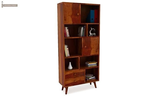 Javier Book Shelves (Honey Finish)-1