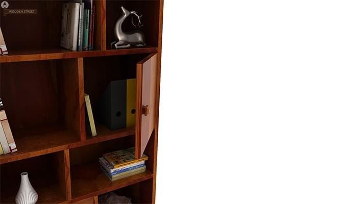 Javier Book Shelves (Honey Finish)-5