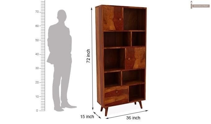 Javier Book Shelves (Honey Finish)-7