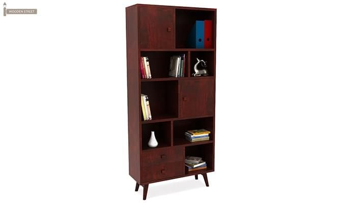Javier Book Shelves (Mahogany Finish)-1