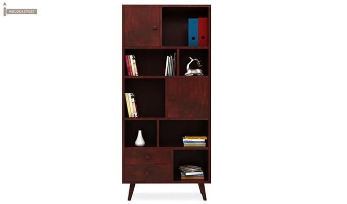 Javier Book Shelves (Mahogany Finish)-2