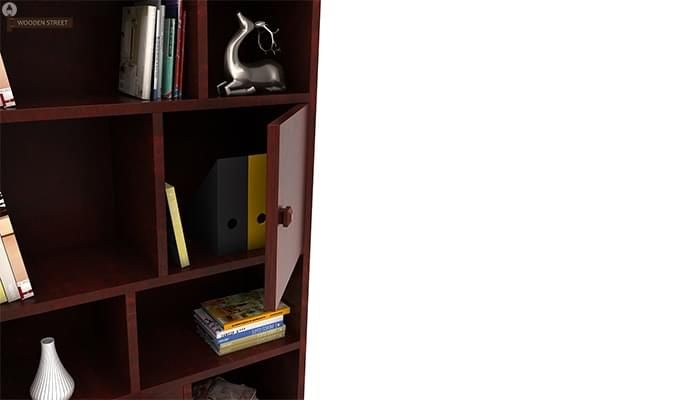 Javier Book Shelves (Mahogany Finish)-6