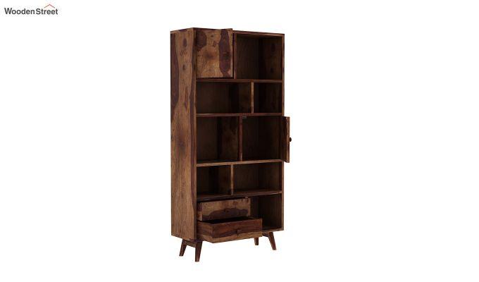 Javier Book Shelves (Teak Finish)-4