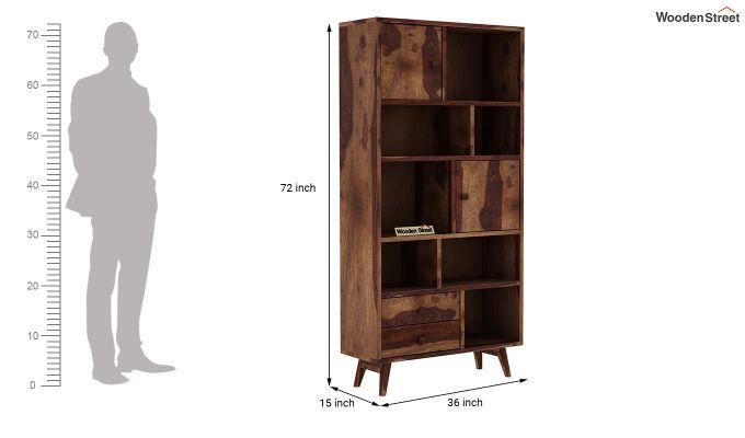 Javier Book Shelves (Teak Finish)-6